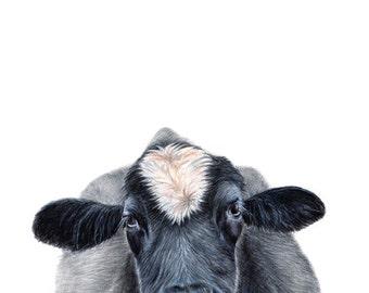 cow print, farm animal, home decor, farm animal prints, boys room wall art, boys room decor, nursery art, nursery wall art, nursery prints