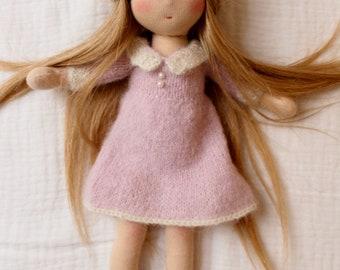 Waldorf doll blond - 10,5 inches / 27cm