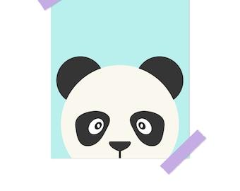 Panda Nursery, Nursery Art, Boy Nursery Wall Art, Animal Nursery Prints, Zoo Animal Nursery, Childrens Wall Art, Blue Nursery Decor