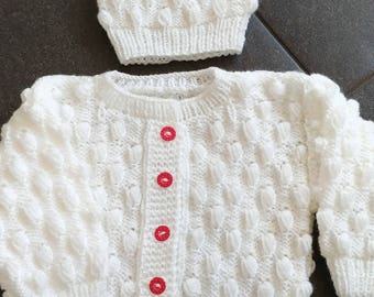 Knitted Kids sweater + hat