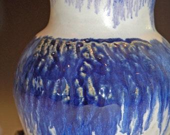 Ceramic Vase, Flower Vase, Pottery Handmade, Blue and White, Ceramic and Pottery Vase, Textured Art