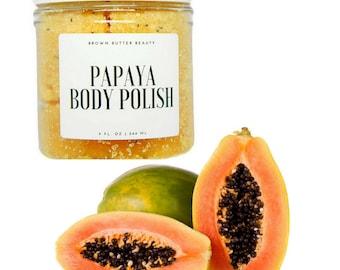 Papaya Sugar Body Polish - Exfoliating Body Scrub - Made with Papaya Fruit Extract