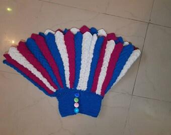 Crocheted high waist skirt