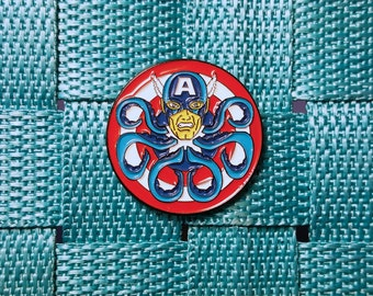 Limited Edition Captain America Hail Hydra Geek Pin / Lapel Pin / Hat Pin by Tom Ryan's Studio