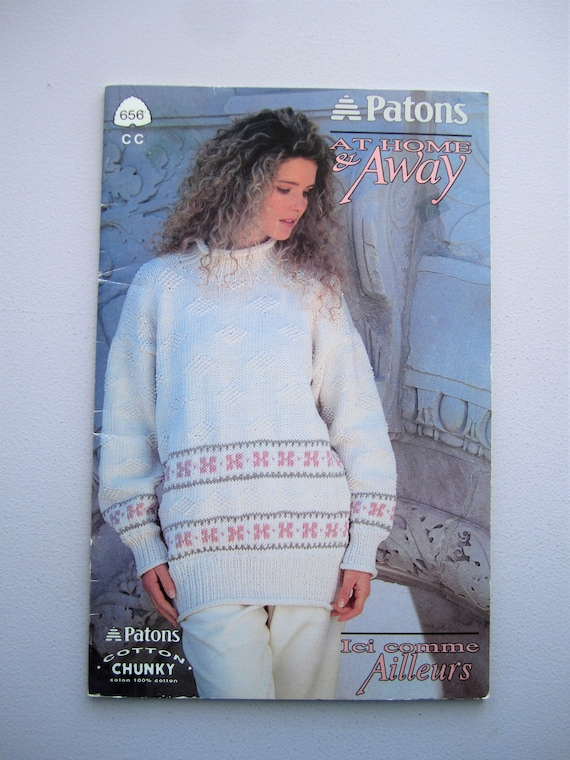 Patons Beehive 656 - Womens Chunky Knitted Sweater Patterns - At ...