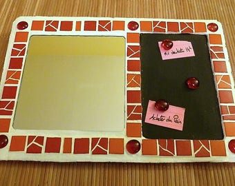 Mirror magnetic sticky mosaic red and Orange