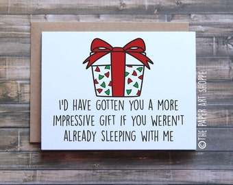 Funny Christmas Card, Funny Holiday Card, Funny Xmas card, Card for girlfriend, card for boyfriend, xmas card for wife, card for husband