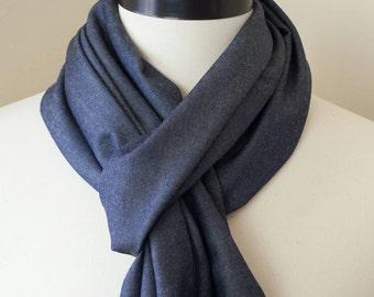 Scarf - Denim Scarf - Pendleton Wool Scarf