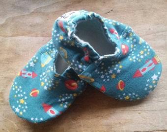 PEANUTS *Rocket* Ciabattine bebè * baby slippers * babbucce * baby shoes fantasia spazio - n. 22-23