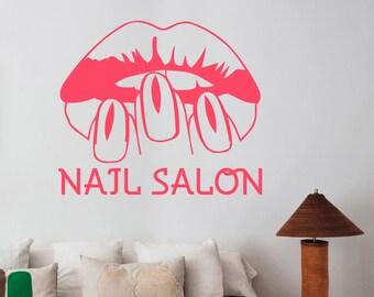 Nail Salon Vinyl Wall Decal Window Sticker Manicure Fashion Art Decorations for Office Spa Beauty Hair Salon Room Custom Decor nsl4