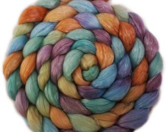 Handpainted Merino Tencel Wool Roving - 4 oz. ARIZONA - Spinning Fiber