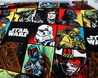 Star Wars baby toddler blanket Jedi Luke Skywalker Chewy Punk Goth Yoda