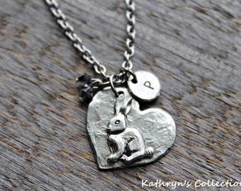 Bunny Rabbit Necklace, Rabbit Jewelry, Pet Rabbit, Pet Bunny, Rabbit Gift, Rabbit mom