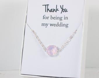 Pink Opal Silver Bracelet, Pink Opal Bracelet, Bridesmaid Pink Opal Bracelet, Silver Bracelet, Bridesmaid Bracelet, Bridesmaid Jewelry