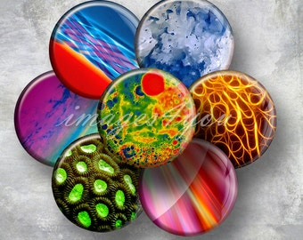 """Abstract charm 1"""" bottlecap images for pendants 1 inch circles digital collage sheet cabochon download printable round 30mm 25mm 1.25"""" 1.5"""""""