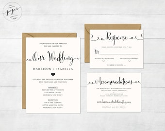 Printable Wedding Invitation Set - Wedding Invitation - Invitation - RSVP Card - Details Card - DIY Wedding - Wedding Set Memphis Collection