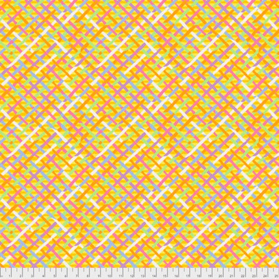MAD PLAID GOLD BM037 Brandon Mably for Kaffe Fassett Collective Sold in 1/2 yd increments