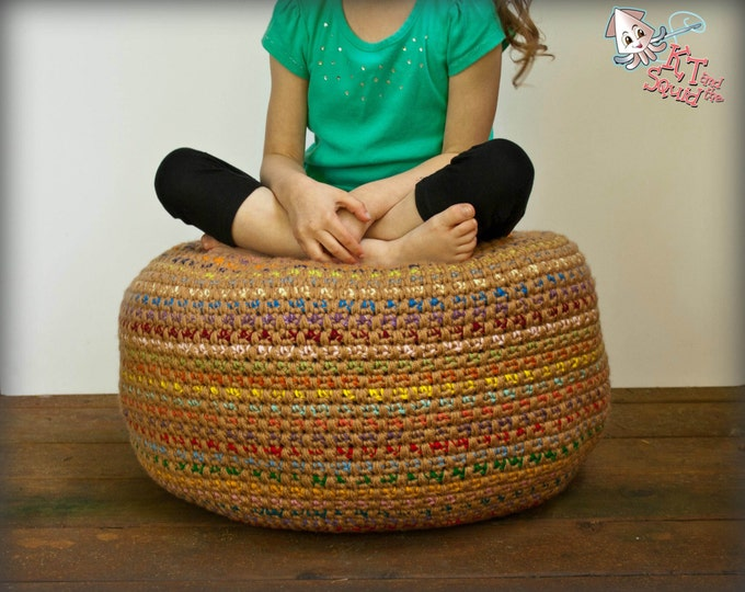 Stash Busting Monster Pouf - Crochet Pattern