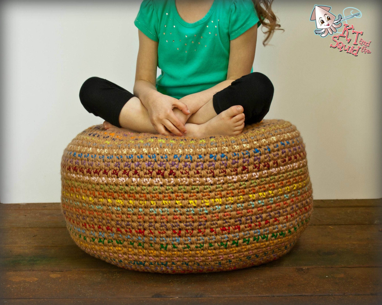 Crochet Pattern Pouf Foot Stool