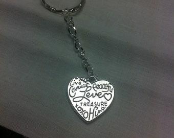 CLEARANCE**** Heart keychain love