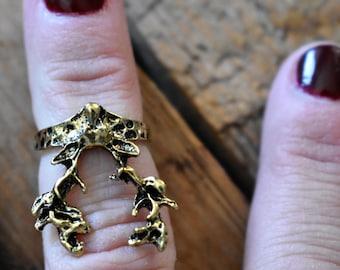 knuckle rings,deer,rings,winter,gifts,birthday