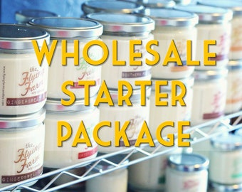 Scented Candles, Wholesale Starter Set, Handmade Soy Candles, Candles in Bulk, Wholesale Bundle, Retail Sampler, Mason Jar Candles, Retro
