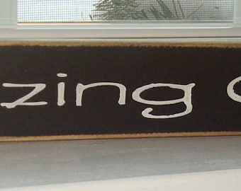 Hand painted wood sign. Amazing Grace. Christian sign.