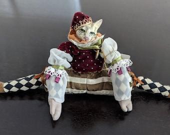 Katherine's Collection, Silver Lake Jester cat doll, Wayne Kleski