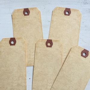 50 Wedding Aged Blank Tag Vintage Escort Cards Advice Tags