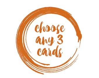 Choose any 3 Greeting and Celebration cards.