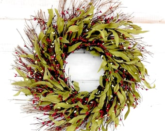 Spring Wreath-Summer Wreath-Winter Wreath-Valentines Day Wreaths-Holiday Wreath-Farmhouse Wreath-Rustic Home Decor-Holiday  Scented Wreaths