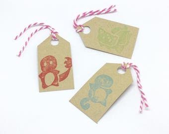 Cute Pokemon Inspired Gift Tags