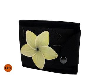 Flower, Handmade Personalized Wallet, Hand Painted, Vegan Friendly, Vegan Leather, Mens Leather Wallet, Ladies Leather Wallet, Boho, UNUSUAL