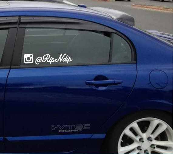 Instagram decal jdm custom social media vinyl decal