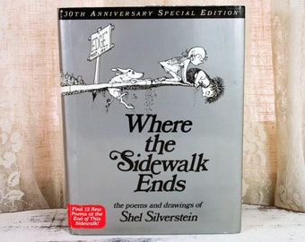 Where sidewalk ends etsy shel silverstein where the sidewalk ends book 30th anniversary edition original hardcover fandeluxe Choice Image