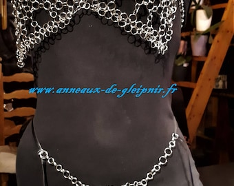 LOFN set - chainmail SEXY - goddess of love lost and illegitimate - Valentine gift or birthday - Original