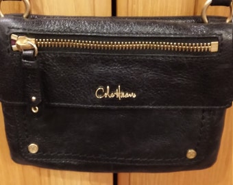 "Vintage Cole Haan ""MINI"" Over the Shoulder Bag.  The Bag measures 7"" x 5"".  Nice leather and no damage."