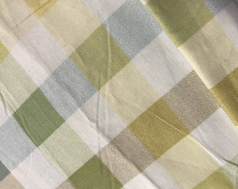 Plaid printed cotton by the yard
