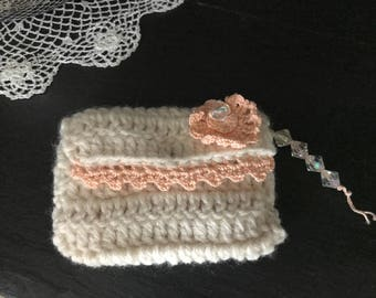 Crochet card holder