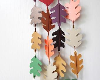 Leaf Garland / Fall Leaf Bunting / Thanksgiving Decor / Photo Prop / Back To School / Fall / Leaf Decor