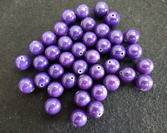 Vintage Fossil 10mm Imperial Purple Rounds