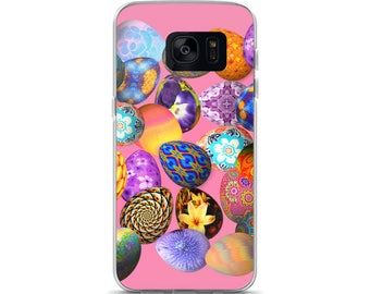 All Over Easter Eggs on Pink Cell Phone Case Samsung Galaxy S7, S8, S8+, S7 Edge