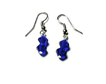 Royal Blue Glass Bead Earrings