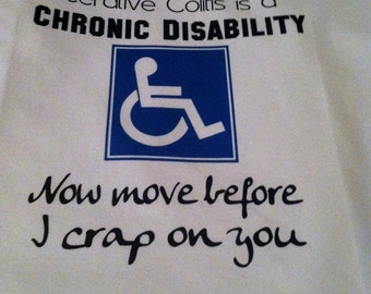 """Crohnshumor Charity """"Ulcerative Colitis is a Chronic Disability"""" t-shirt"""