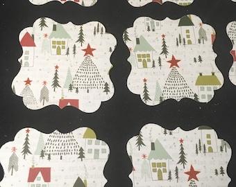 """Christmas Tags lot of 12  2"""" Tags"""