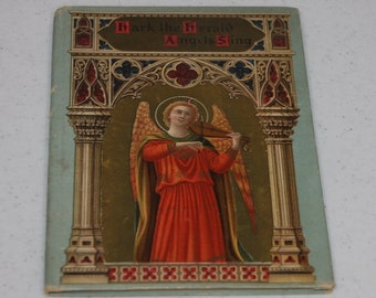 HARK! The Herald Angels Sing by Charles Wesley hardcover 1907
