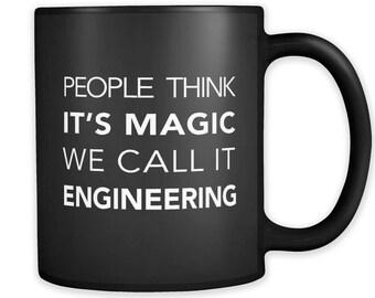 Funny Engineering Black Mug, Engineering Gift, Software Developer Gift, Engineer Gift, Gift for Engineer, Developer Mug, Engineer Mug #a162