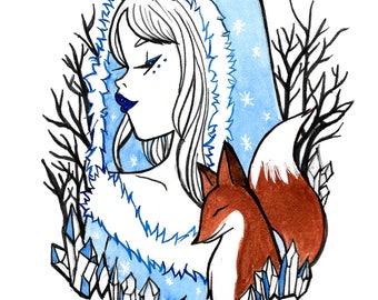 Inktober Day 9 Winter Witch