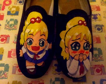 funny trainers manga girl black sneakers girls shoes