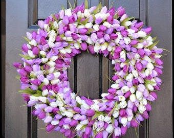 SPRING WREATH SALE Spring Wreaths- Lavender Wreath- Mother's Day Gift- Spring Decor- Easter Wreath- Easter Decor- Wedding Wreath- Gift for M